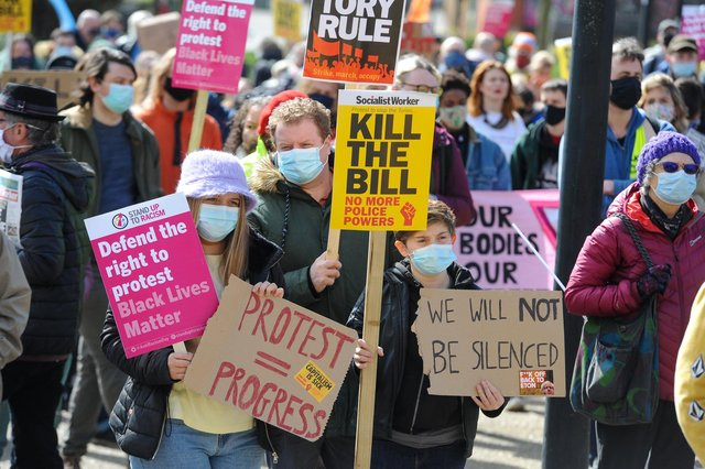Hundreds of protestors gathered in Sheffield city centre on Saturday for a third 'Kill the Bill' march.