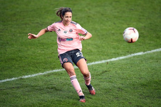 Courtney Sweetman-Kirk of Sheffield United Women has urged fans to get behind England at UEFA Euro Women's 2022 (pic: Bryn Lennon/Getty Images)