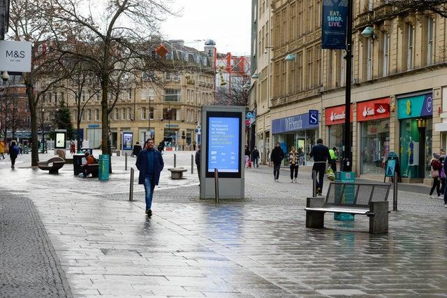 People walking on Sheffield's Fargate