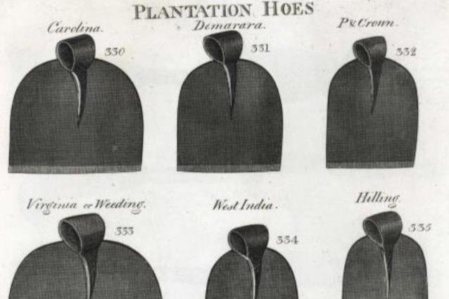 Plantation hoes sold by Joseph Smith of Sheffield, 1816