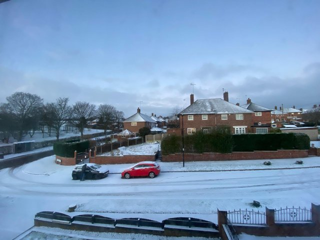 A picture of the snow in Handsworth this morning. We'd love to see your snow pictures! Email the newsdesk or message us on Facebook.