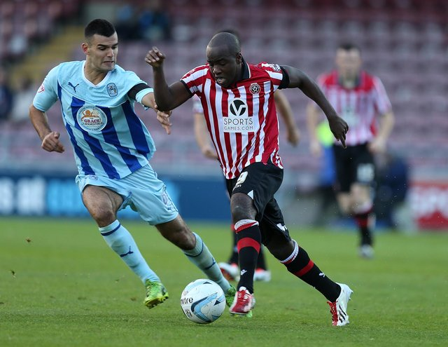 Febian Brandy playing for Sheffield United (photo by Pete Norton/Getty Images).