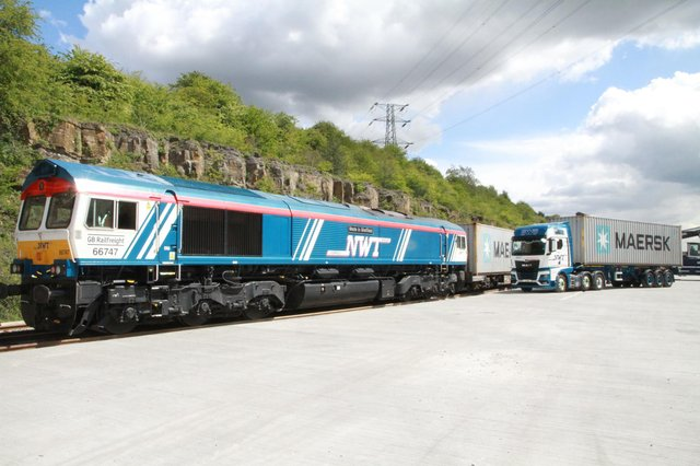 The firm welcomed its first train this week, watched by rail enthusiasts and trainspotters.