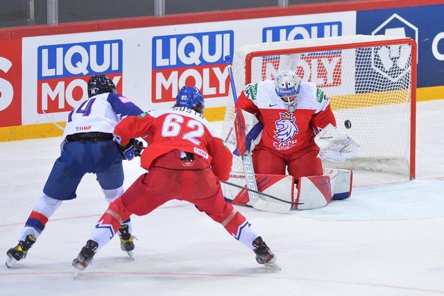 GB's Liam Kirk chance against the Czechs, pic by Dean Woolley