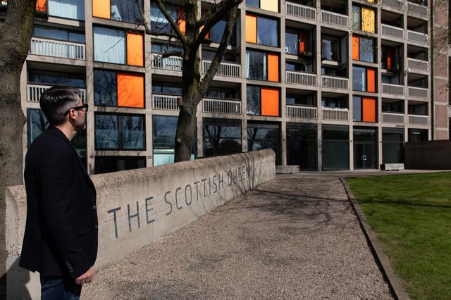 Christian Hawley outside the former Scottish Queen at Park Hill.