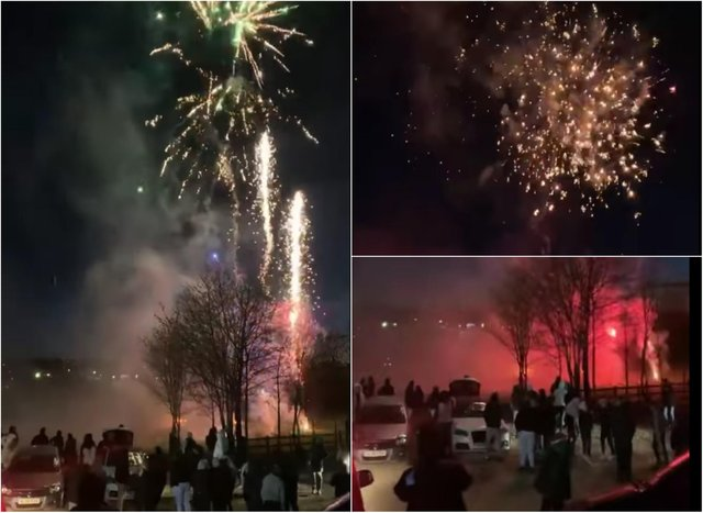 Fireworks were set off as a tribute to a young Sheffield man killed in a crash on the M1 last Sunday