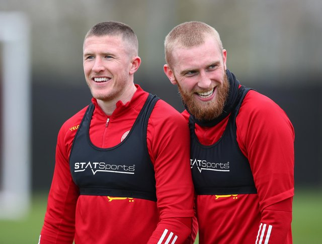 John Lundstram and Oli McBurnie during their time together at Sheffield United: Simon Bellis/Sportimage