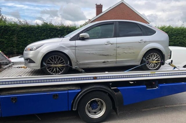 Witnesses to a police chase involving this car are urged to come forward