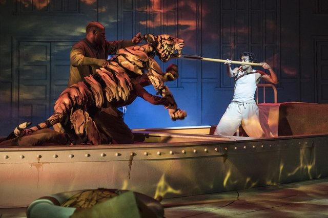 The theatrical adaptation of Yann Martel's novel Life of Pi was a hit at the Crucible Theatre in Sheffield in 2019. Picture: Johan Persson.