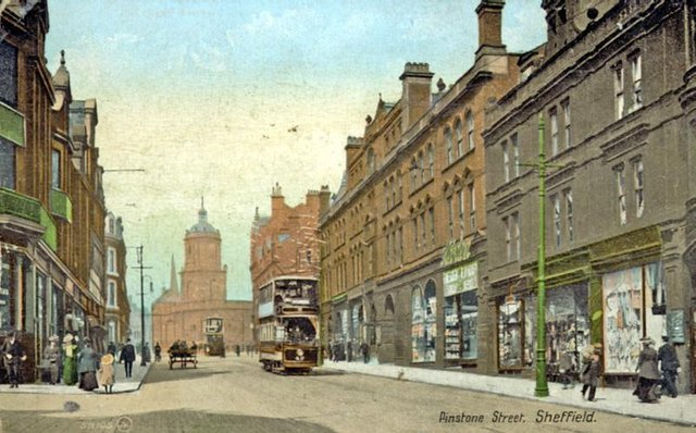 Looking towards the Peace Gardens and Town Hall, c. 1900