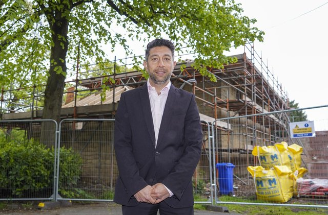Steve Chu, chief executive of Age UK Sheffield, at The Old Coach House in Hillsborough Park. Picture Scott Merrylees