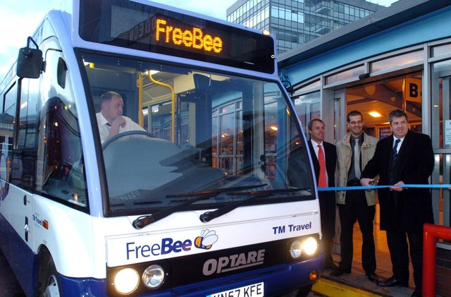 Coun Bryan Lodge launches the FreeBee service in October 2007