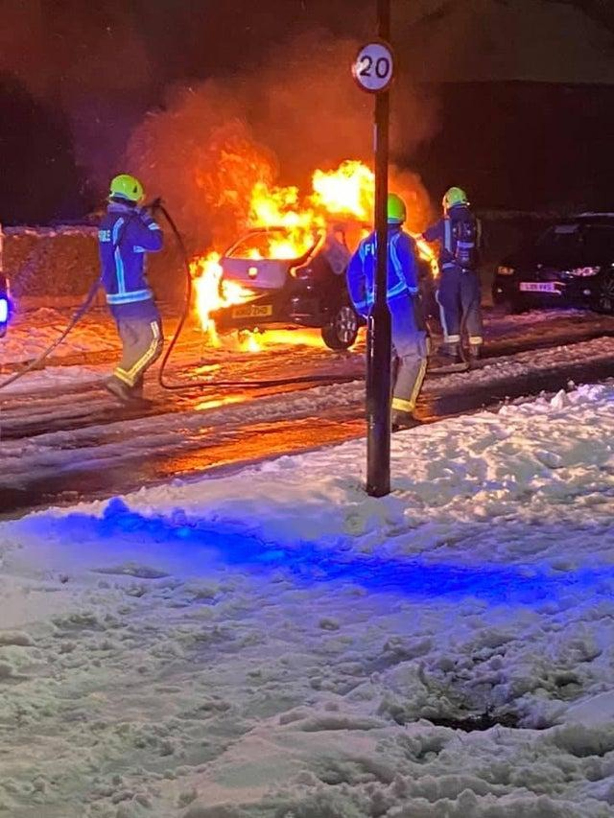Car torched 'at random' on Sheffield estate was just two weeks old