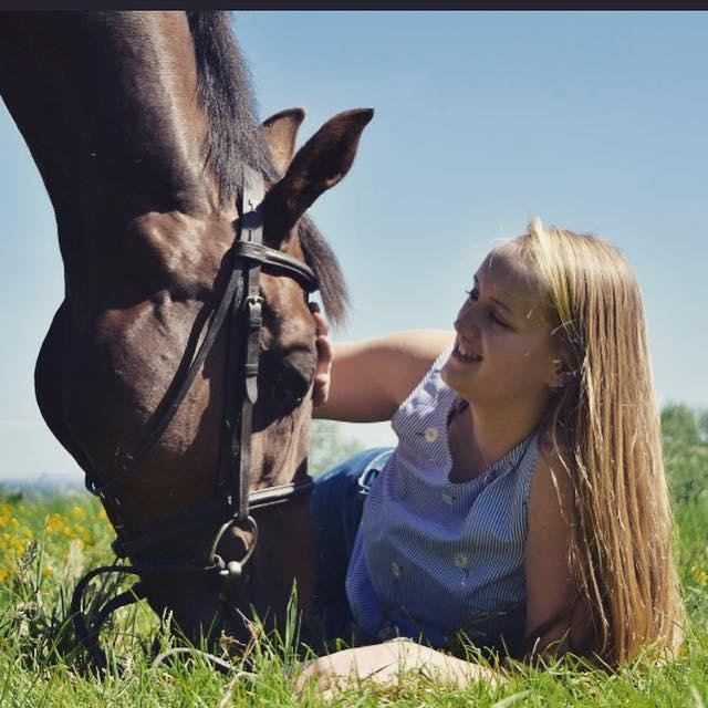 Gracie Spinks and her horse, Paddy.