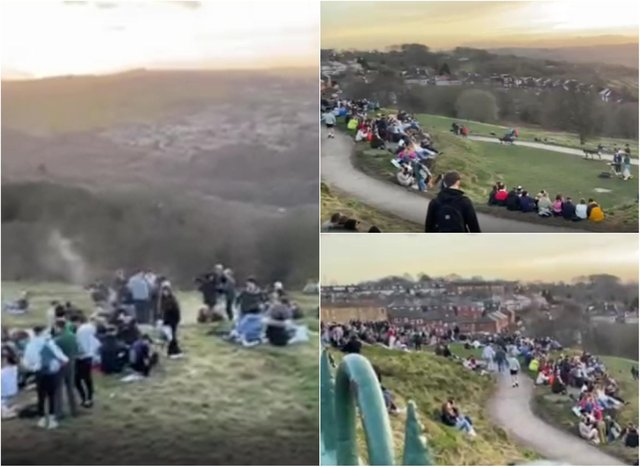 Crowds gathered at Bolehills in Crookes earlier this week in breach of Covid rules while DJs played sets