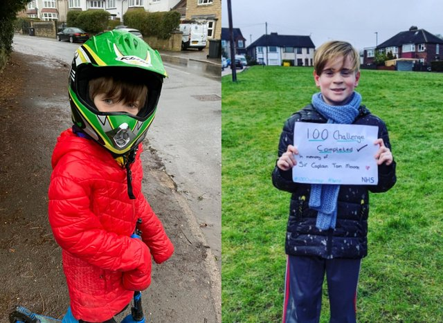 Xander Dring and Jamie Ashworth have raised almost £1,500 between them for the NHS.