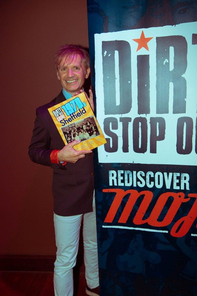 Neil with the original Dirty Stop Out's Guide to 1970s Sheffield