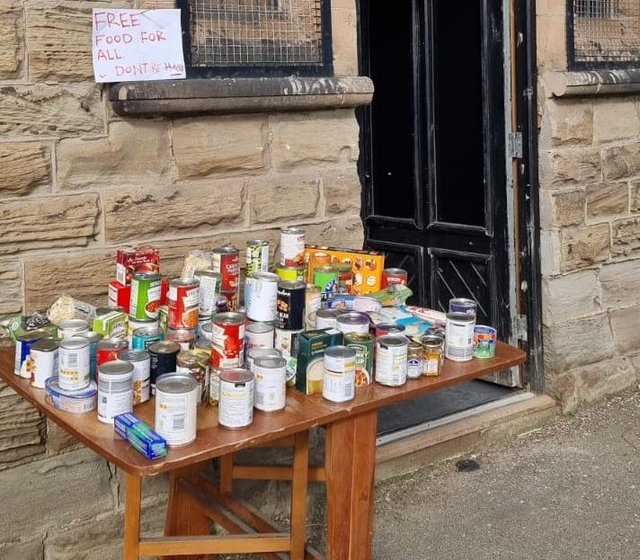 Woodhouse Boxing Gym helping out the community by giving out free food.