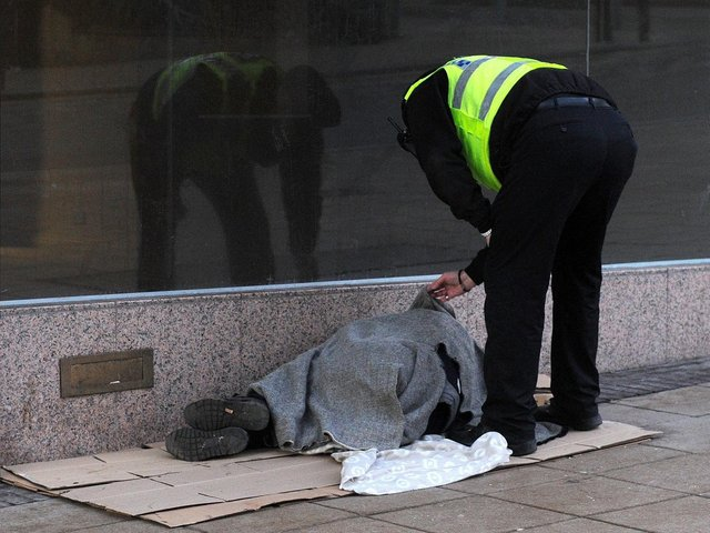 Homeless person in Sheffield