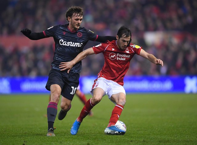 Yuri Ribeiro of Nottingham Forest is challenged by John Swift of Reading: Laurence Griffiths/Getty Images