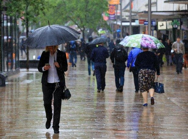 Yellow warning for rain is in place for Sheffield