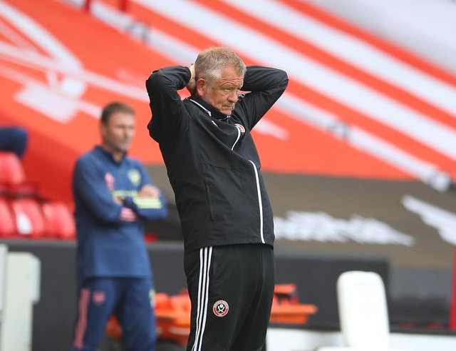Chris Wilder, the Sheffield United manager, admits he is tired of football's decision making process during games: Simon Bellis/Sportimage