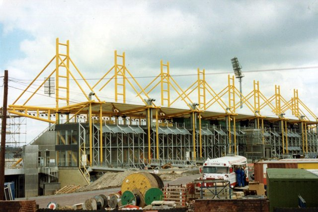 Don Valley Stadium, with its familiar yellow steelwork structure, was built for the 1991 World Student Games