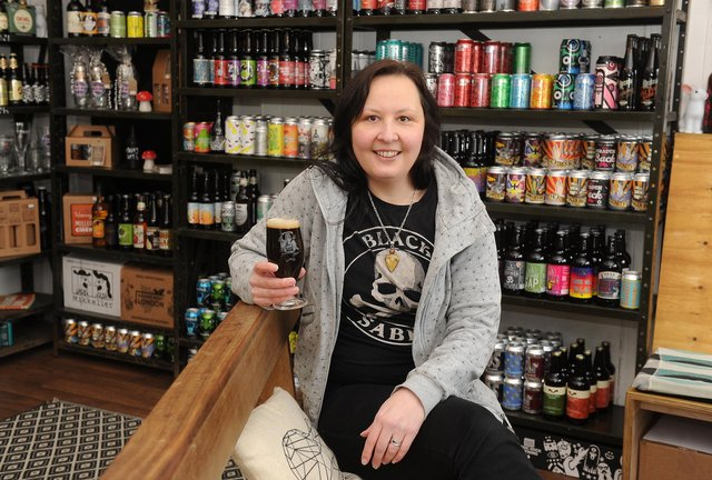Jules Gray pictured at her shop Hop Hideout, in its former premises on Abbeydale Road. Picture: Scott Merrylees