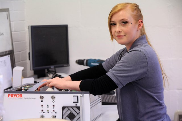 Mary Stickland at Pryor Marking Technology. Picture: Chris Etchells.