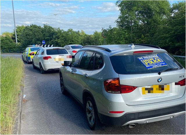 Two cars were seized by the police after motorists were caught racing along the Sheffield Parkway