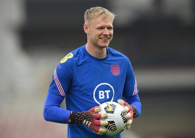 England goalkeeper Aaron Ramsdale looks on (Stu Forster/Getty Images)