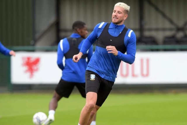Sheffield Wednesday's Sam Hutchinson has dyed his hair.
