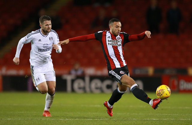 Samir Carruthers and Ollie Norwood during United's 5-4 defeat to Fulham in 2017: Simon Bellis/Sportimage