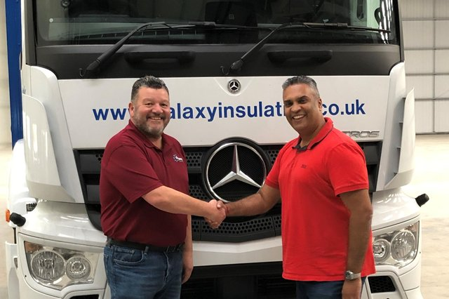 Galaxy MD Tracy Shepherd, left, with Sanjay Gorasia Commercial Director South.
