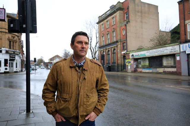 Businessman David Slater, managing director of Attercliffe-based property firm Spaces Sheffield talks about 'cleaning up Attercliffe' as part of his regenerating plans. Picture: Chris Etchell