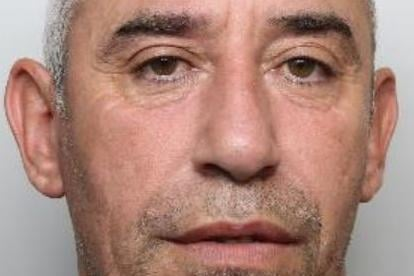 Pictured is Bryan Shamson, aged 52, of Calder Way, Sheffield, who was sentenced at Sheffield Crown Court to six-and-a-half months of custody after he pleaded guilty to assaulting an emergency worker, namely a police officer, and to racially aggravated harassment against a police officer.