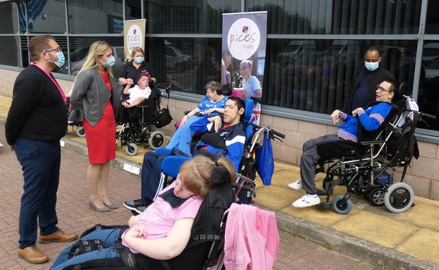 Miriam Cates MP met people at Paces Living Adult Services
