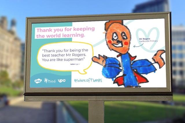 Twinkl Wave of Thanks billboard
