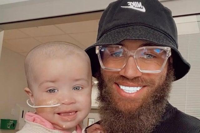 Ashley with his daughter Azaylia Diamond Cain. Photo: Instagram/Ashley Cain