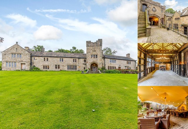 Upper House is on the market for £3.2m and has views of Kinder Scout.