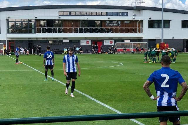 Sheffield Wednesday v Celtic at Dragons Park, Newport.