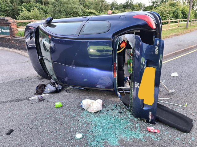 Police officers were called out to deal with a collision on Bernard Road, Sheffield, yesterday