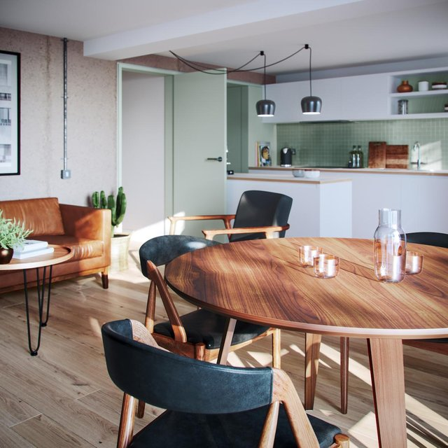 Light and bright, this living room looks thoroughly modern
