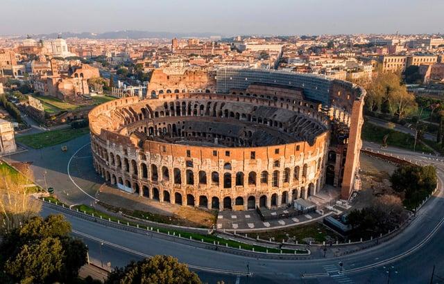 The Colosseum in Rome features on Google Arts & Culture. Picture: ELIO CASTORIA/AFP via Getty Images.