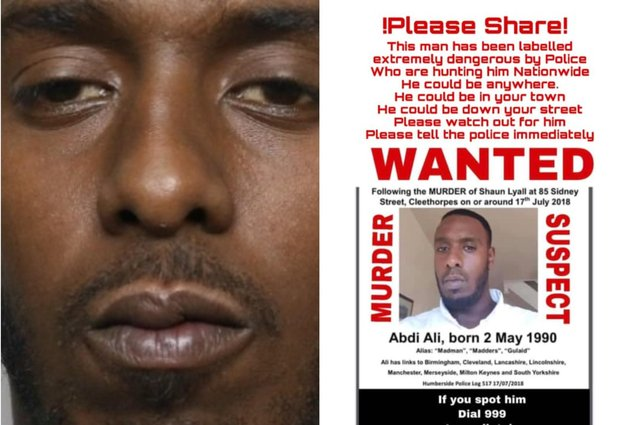 Abdi Ali, from Sheffeld, is wanted for questioning over a murder