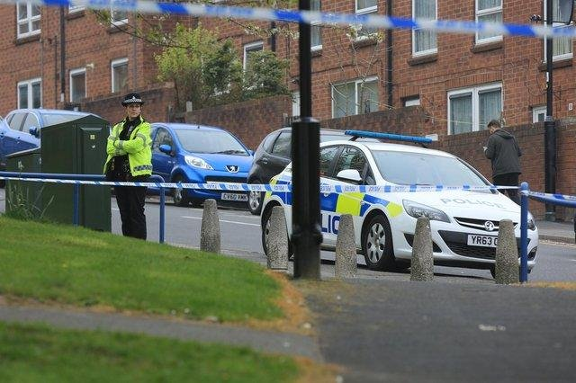 Addy Street, Upperthorpe, cordoned off after a shooting in 2019