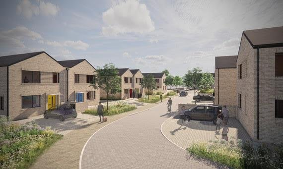 An artists' impression of the development from Peak Architects.