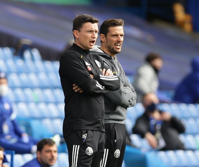 Paul Heckingbottom, interim manager and Jason Tindall, coach of Sheffield United: David Klein/Sportimage