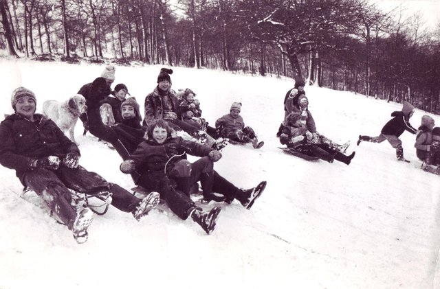Who can you spot in these snow day pictures?