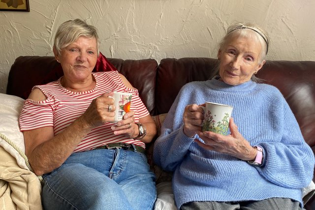 Volunteer Marg Neale and service user Margaret Ogle have formed a friendship through their bereavement bond as a result of a charity partnership that aims to defeat loneliness.